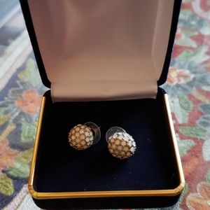 Antique milkstone earrings